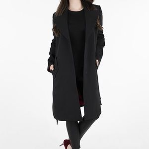 Armani Exchange Black Trench Coat